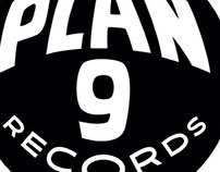 Plan 9 record store logo designs