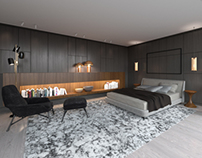 Minotti style bedroom.