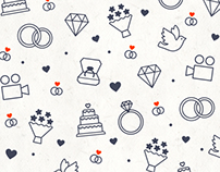 Icons and patterns for wedding video competition