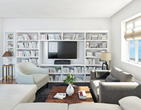 3D Living room set _ 3dsmax+Vray+textures+light setup