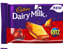 Cadbury Dairy Milk Ritz and Lu Biscuit 3D Model