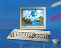 Commodore Amiga 1200 photo ad remake in 3D