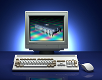 Commodore Amiga 1200 photo ad remake no 2 in 3D
