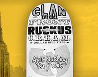 Wu-Tang Clan / 36 Chambers tribute - type skateboard