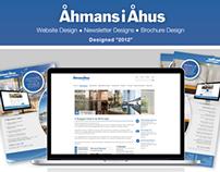 Åhmans i Åhus - Web, Newsletter and Brochure Design