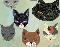 Cat illustrations for book