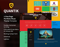 Quantik - One Page Muse Theme