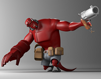 3D Modeling - Hellboy Cartoon Version