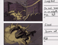 Storyboards for game cinematics