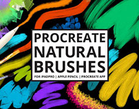 25 Procreate Natural Media Brushes by PicByKate