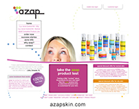 Website for Azap Skin Care