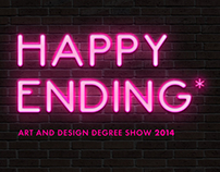 Happy Ending; Art & Design Degree Show Concept