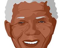Ilustração Nelson Mandela