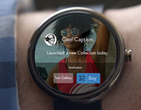 Android Wear UI Designs