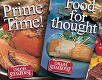 Postcard Campaign for Omaha Steakhouse in Phoenix AZ