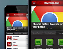 Download.com Mobile Web Design