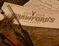 Crawford's Taxidermy Brand Identity