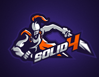 Solid4 Mascot Logo