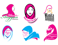 Wanita Anggun Collections Logo Design