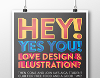 AIGA Student Group Posters