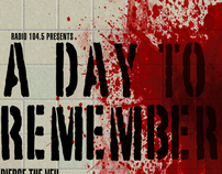 A Day to Remember Event Poster