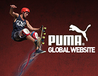 Puma Global website layout  (Pitch)