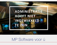 Single page website ontwerp voor MP Software