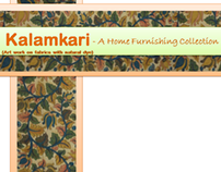 Kalamkari (Hand Painting Natural Dye) - Home Furnishing