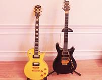 Luthiery: PRS-style custom & LP Custom inspired guitars