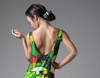 Vibrant Fruit Cocktail Maxi Dress