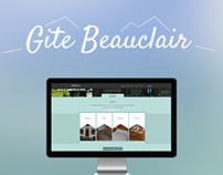Design / Integration of the Gite Beauclair website