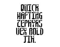Custom Modular Typeface