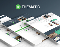Thematic - clean, modern and flat PSD theme
