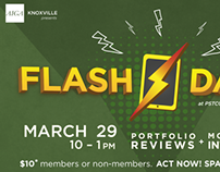 AIGA Knoxville Flash & Dash 2014 Promotion Materials