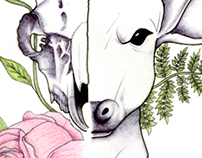 Deer & Flowers