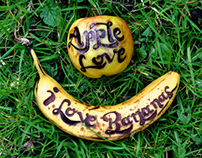 Hand-Drawn Fruit Typography