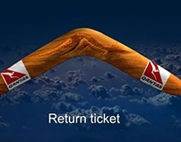 Qantas : return ticket  Behance collaboration n° 5