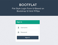 Bootflat Login Form