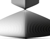 expérimentation de forme abstraite