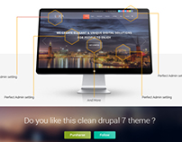 new drupal template luxia