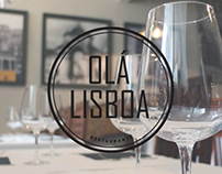 'Olá Lisboa' Restaurant Logo Brand