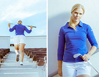 Golfer Minea Blomqvist portraits 2013
