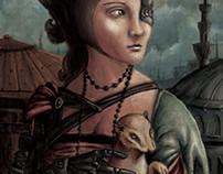 La dama de armiño Cyberpunk