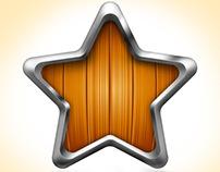 Wooden shapes for app