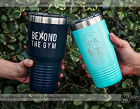 Custom Etched Metal Tumblers - Now 20% OFF!