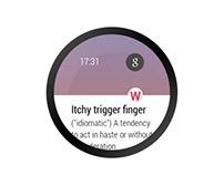 Daily Word for Android Wear concept & prototype