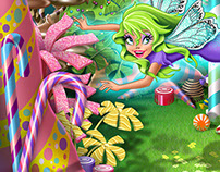 Candyland Garden Gate and Fairies