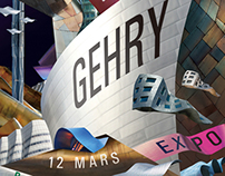 Frank Gehry exhibition poster