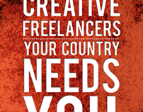 CREATIVE FREELANCERS YOUR COUNTRY NEEDS YOU
