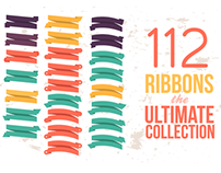 112 Ribbons Psd files